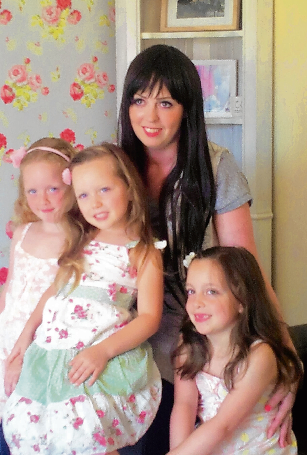 Becky Felton with daughters Abigail, Ella and Poppy-Mae.