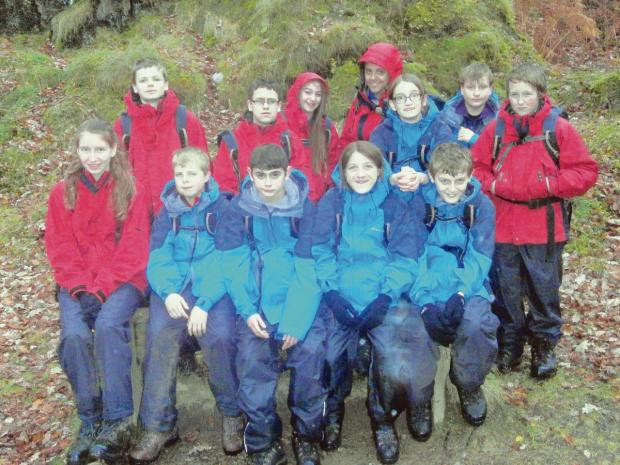The pupils took part in a challenging adventure week in the Lake District