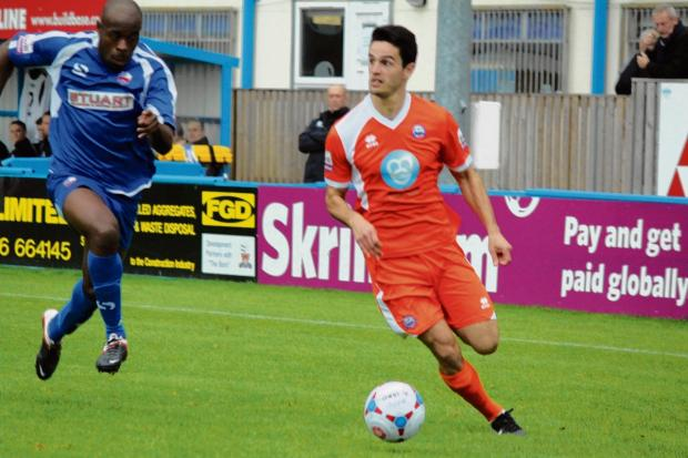 Braintree and Witham Times: Sam Habergham should be fit to face Gateshead on Saturday. Picture: ALAN STUCKEY