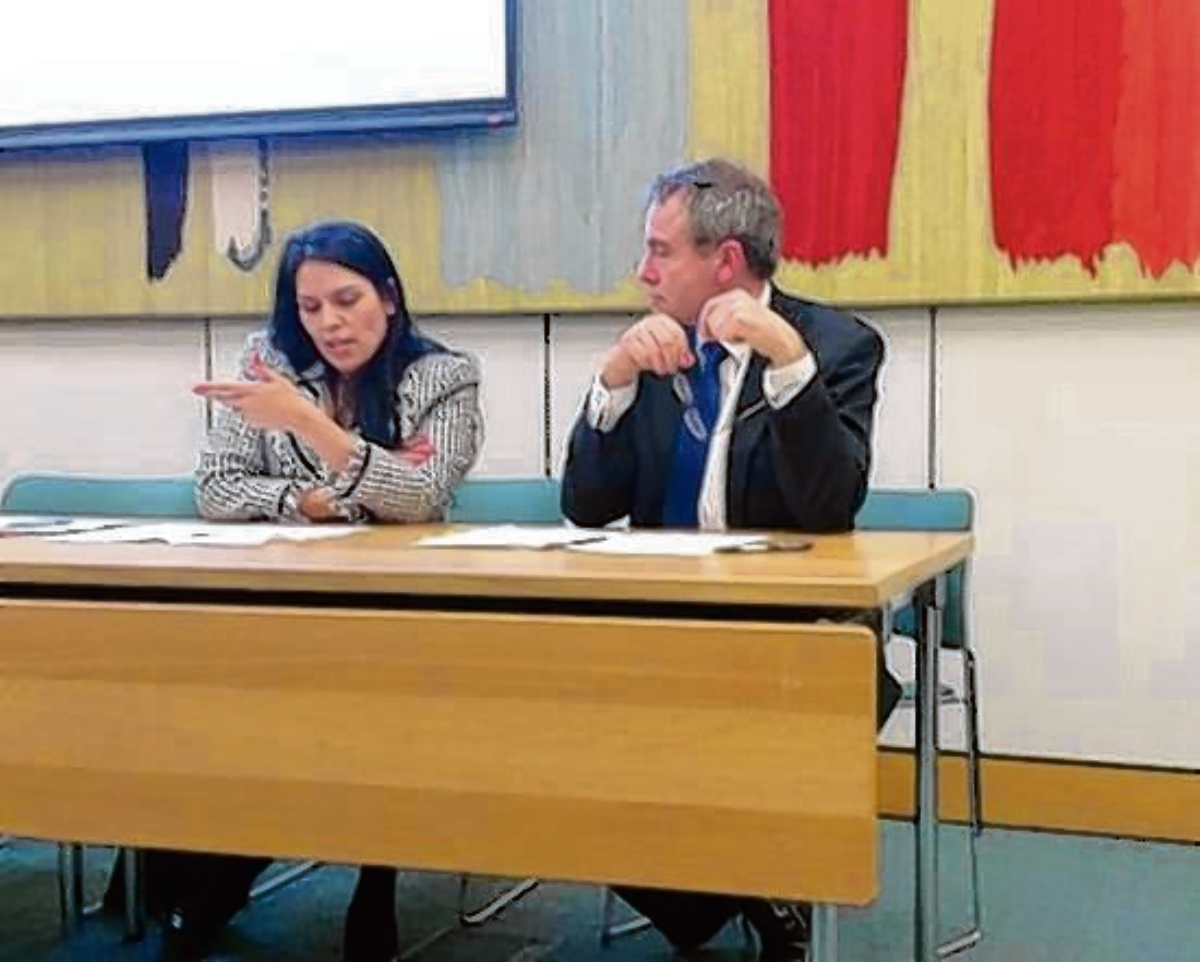 Witham MP Priti Patel with minister Robert Goodwill