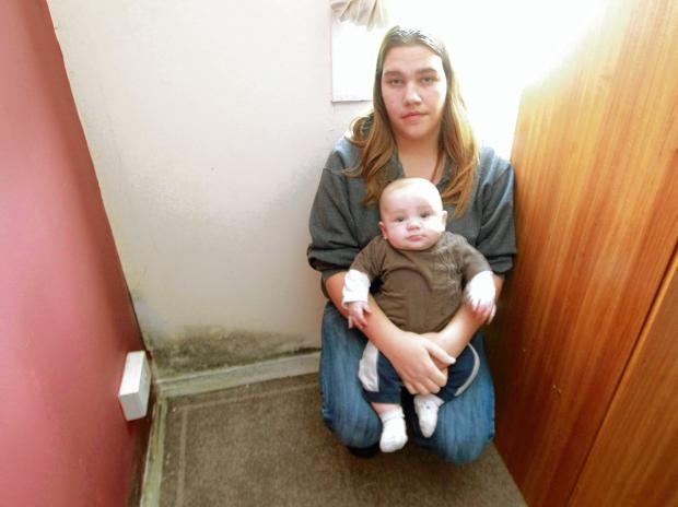 Witham mum's concern over mouldy bedroom
