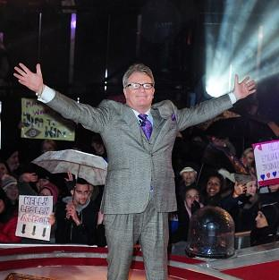 Jim Davidson wins Celebrity Big Brother at Elstree Studios Borehamwood.