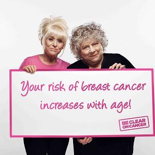 Actresses Barbara Windsor and Miriam Margoyles are supporting a new Be Clear on Cancer campaign (Public Health