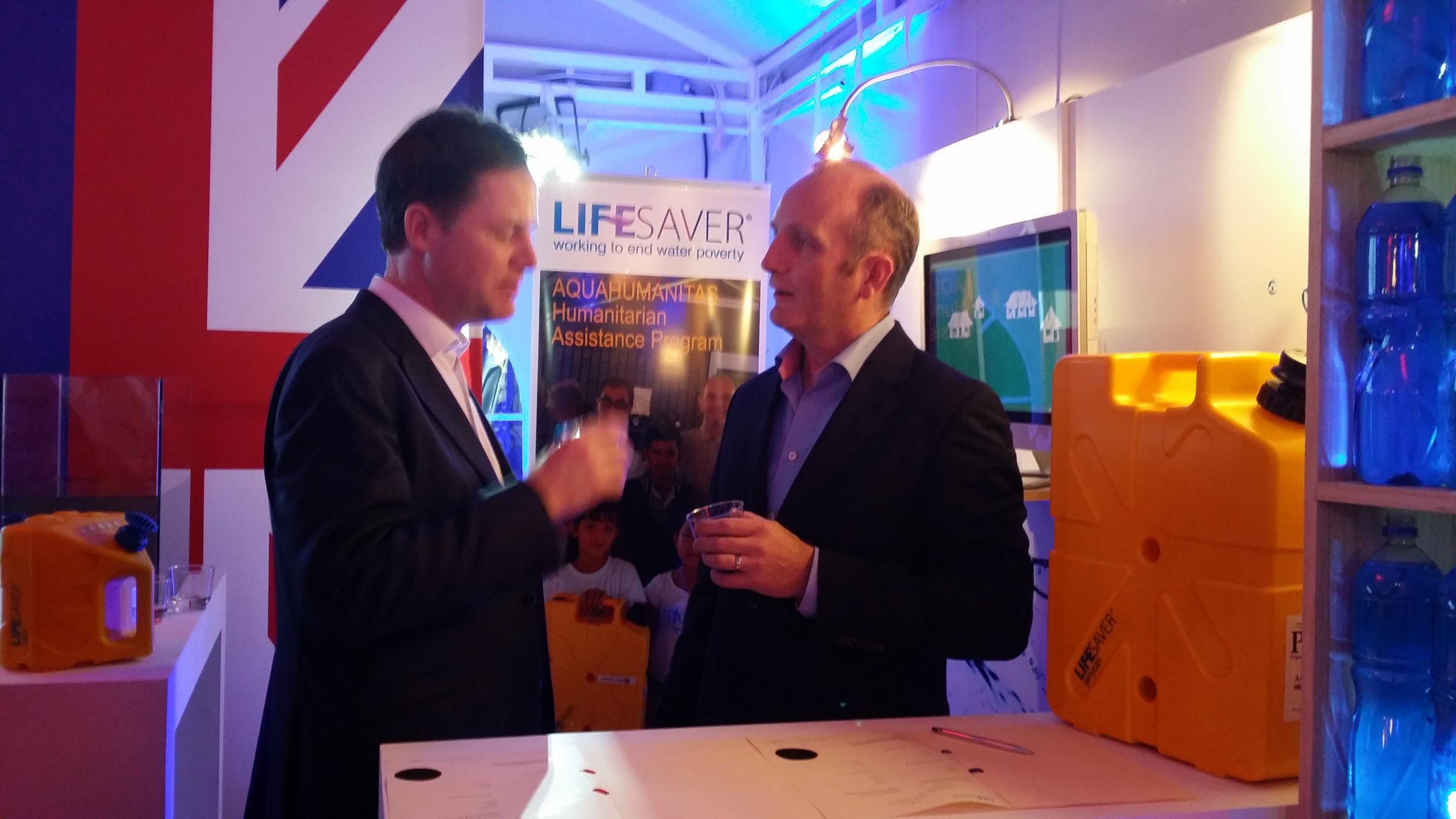 Deputy Prime Minister Nick Clegg (left) with Michael Pritchard, Founder-Inventor, right.