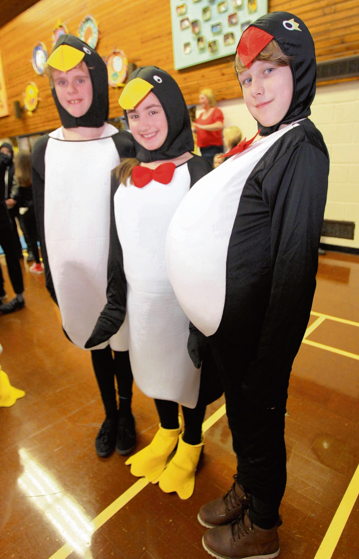 Pupils dressed as penguins for a p-p-packed day of lessons