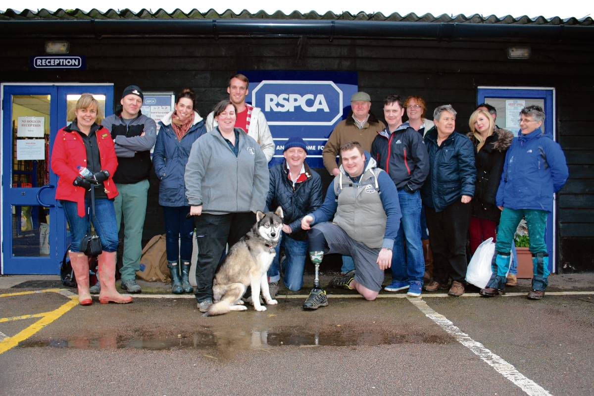 The veterans visited RSPCA Danaher Animal Home