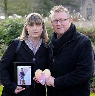 Steve and Yolanda Turner, whose son Sean died from a brain haemorrhage
