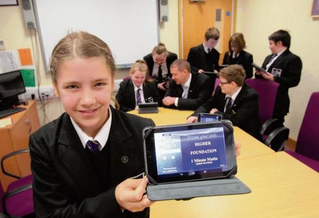Lessons transformed by use of tablet devices