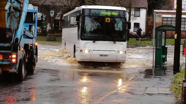 Flooding in Great Yeldham earlier this month (Picture: Simon Edney)