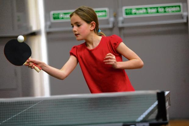 Braintree and Witham Times: Beatrice Jackson in action at the Braintree Table Tennis League tournament. Picture: LOUISE SMITH CO90814-5