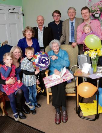 Mrs Martin celebrated her 100th birthday with her family