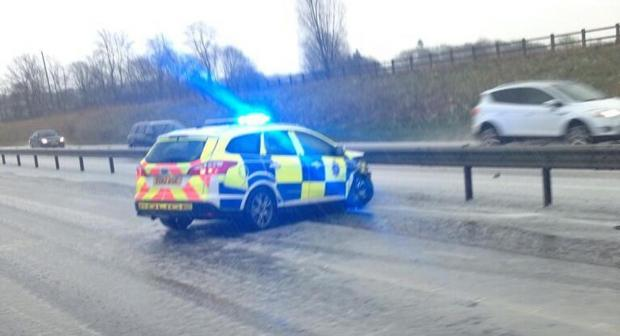 Braintree and Witham Times: Hail storm causes A120 crashes (Picture: Keith Windard)
