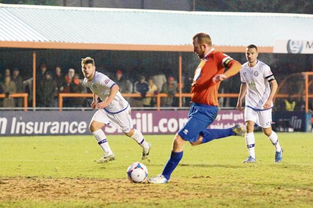Braintree and Witham Times: Kenny Davis is struggling to be fit for the visit of Lincoln City.