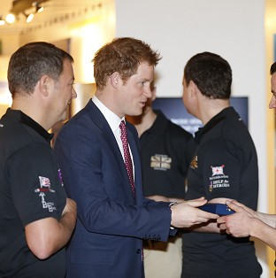 Harry congratulates Atlantic rowers