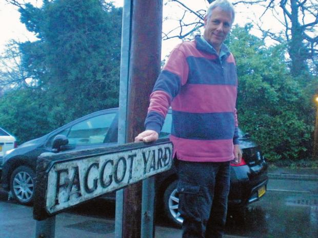 Braintree and Witham Times: Faggot Yard resident Iain Lee likes living in a street with a name that is a talking point.