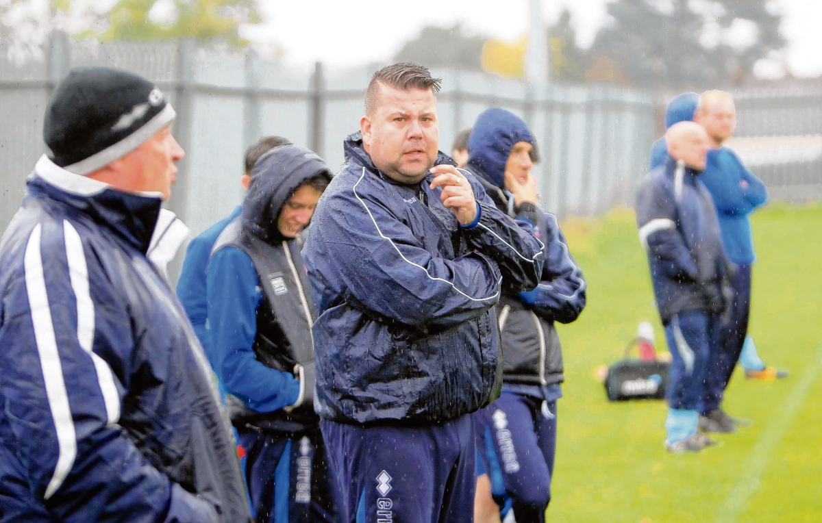 Braintree Town Reserves manager Mark Sansom. Picture: STEVE ARGENT