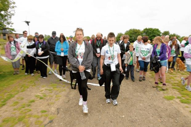 Walkers at Great Notley Country Park