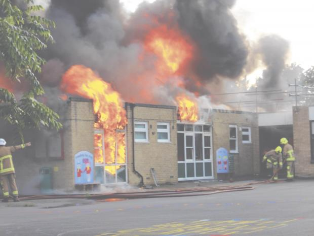 John Ray Infant School was destroyed in a fire in August last year