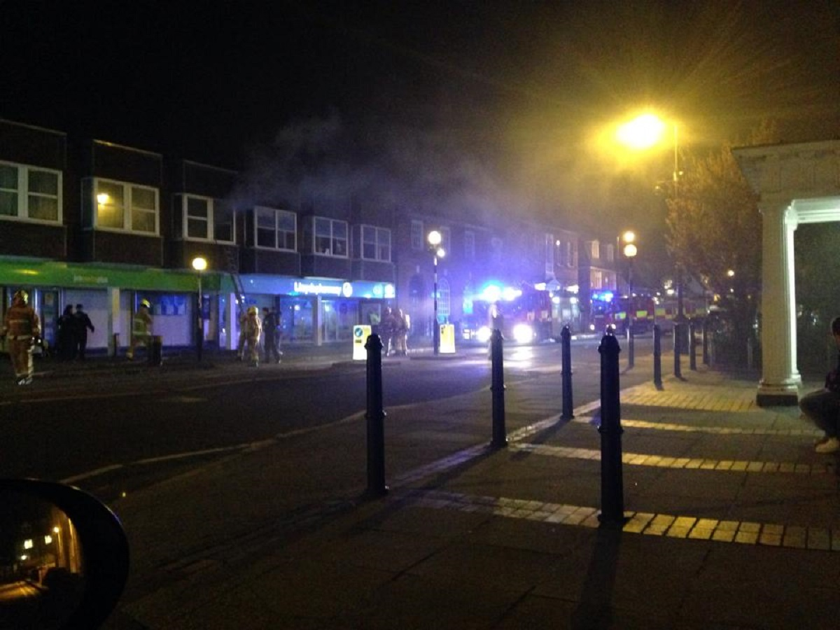 The fire broke out in Newland Street (Picture: Alan Brown)