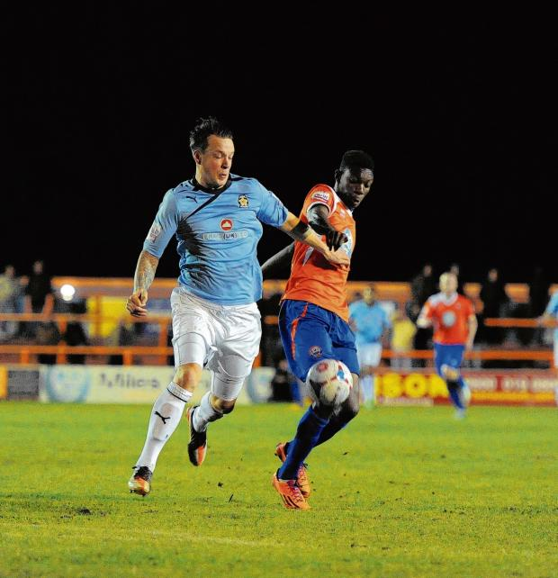 Braintree and Witham Times: Bernard Mensah will need an operation on his knee. Picture: NEIL DADY