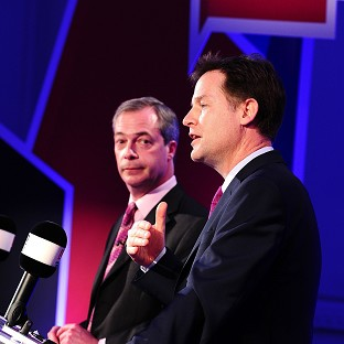 Clegg taunts rivals over EU debate