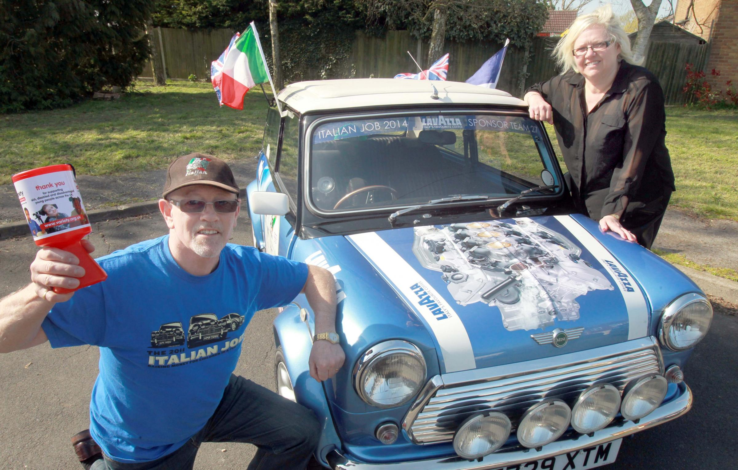 Braintree couple driving their mini to Italy