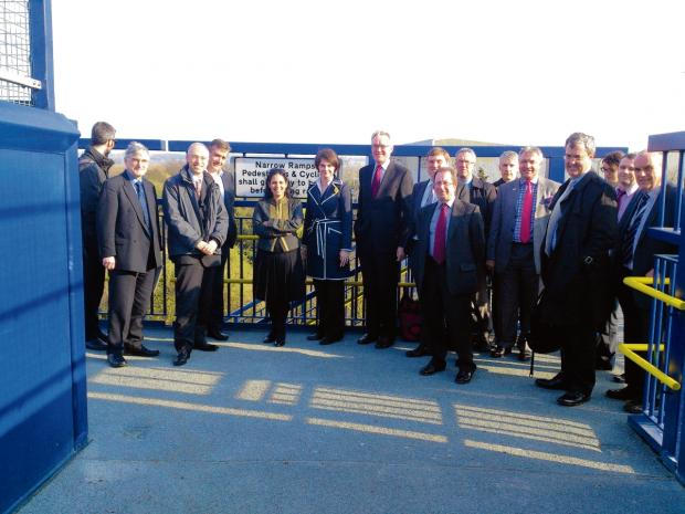 £3.2m rail bridge opens to public
