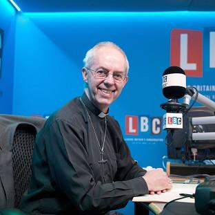 Braintree and Witham Times: Archbishop of Canterbury Justin Welby joins LBC presenter James O'Brien to host his first live radio phone-in at their studios in central London