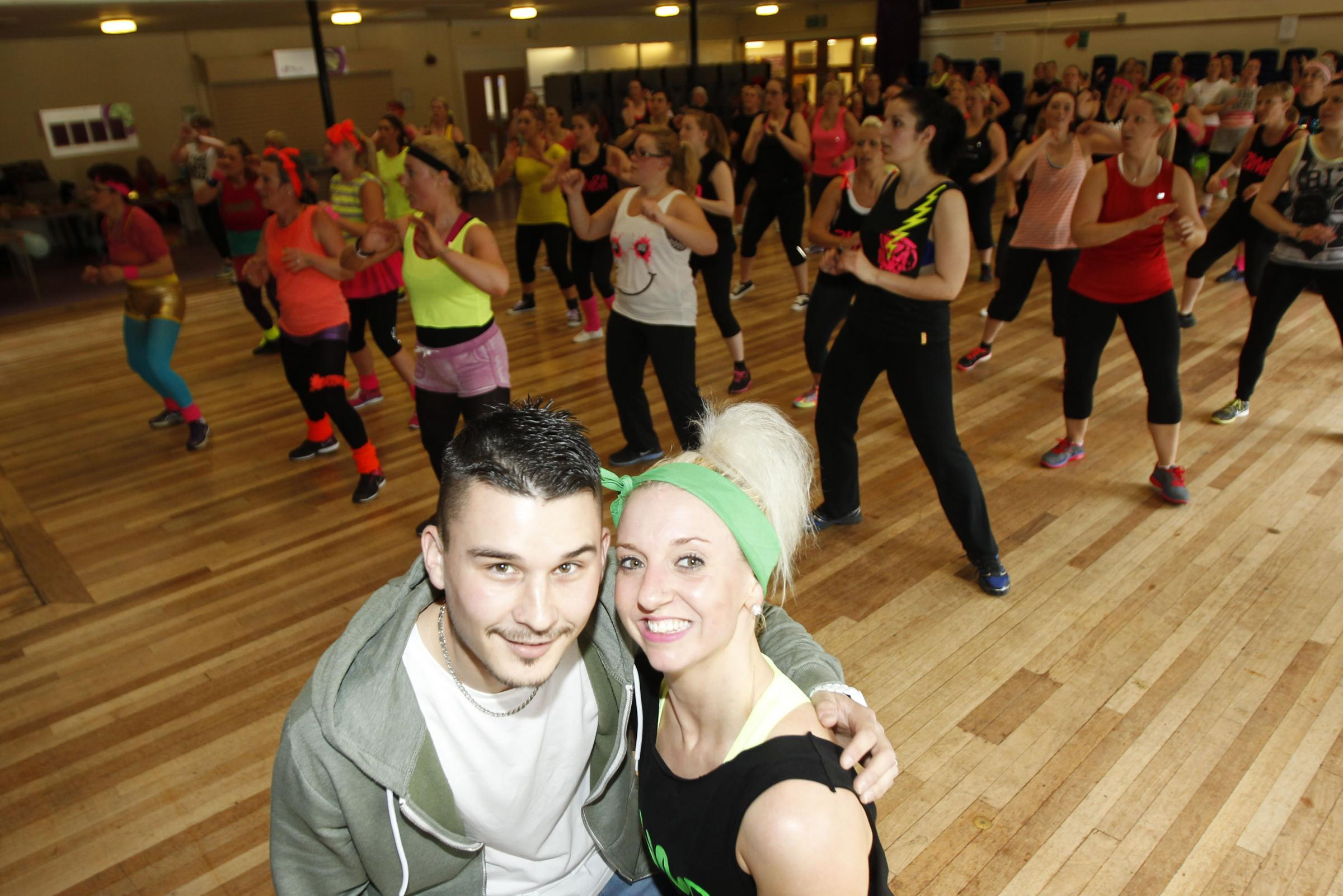 100 participants in charity zumbathon