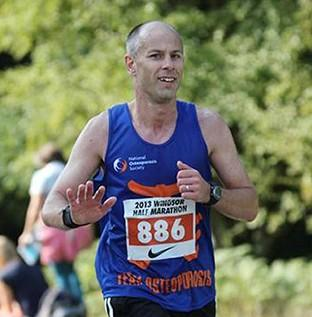 Robert Berry was raising money for charity during his London Marathon run.