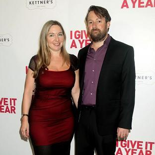 File picture of Victoria Coren Mitchell with her husband David Mitchell.
