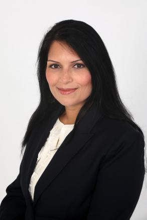 Priti Patel wants Scope to reconsider its proposals to close Drummonds care home, in Feering