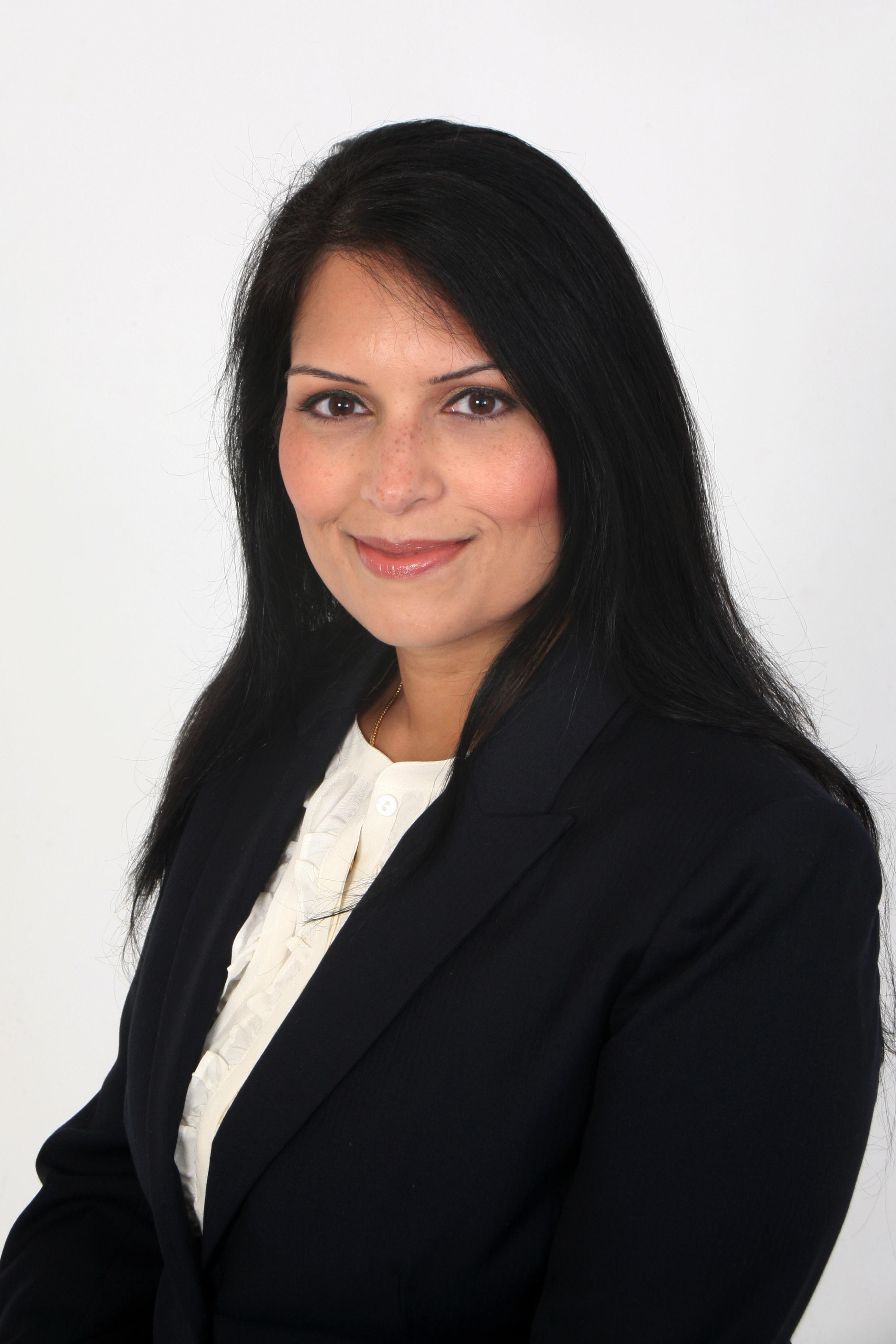 Priti Patel rated top 10 'sexiest MP'