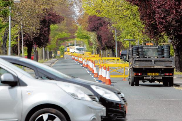 Driver fury as roadworks cause town centre gridlock