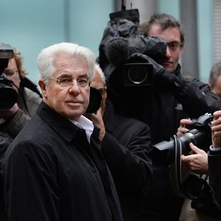 Publicist Max Clifford arriving at Southwark Crown Court in London