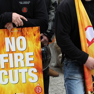 Firefighters strike in pensions row
