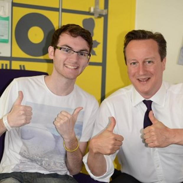 Braintree and Witham Times: Teenage cancer patient Stephen Sutton was visited by Prime Minister David Cameron