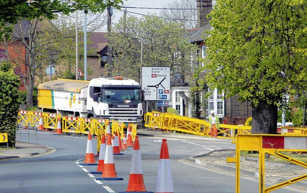 Council cease roadworks after town left in gridlock