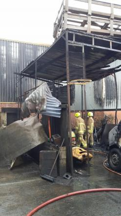 The accidental blaze at Armill Lift Trucks caused £40k worth of damage