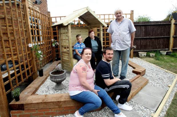 Charity transforms family's garden