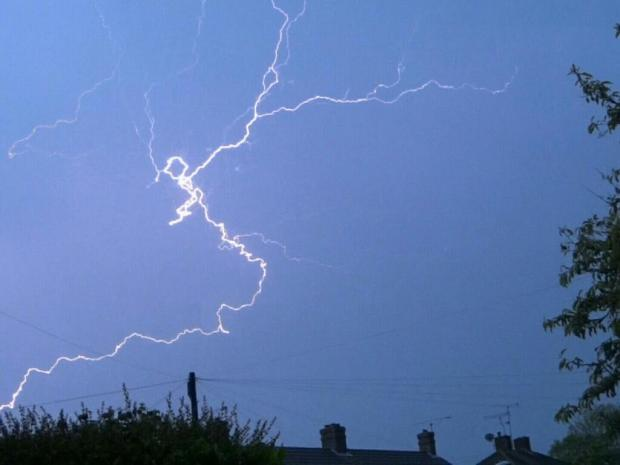 Mother speaks of shock after seeing house struck by lightning