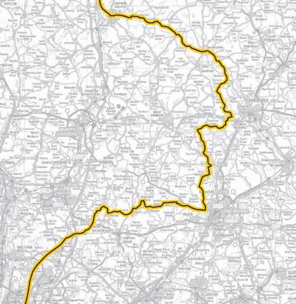The Tour de France route through Essex