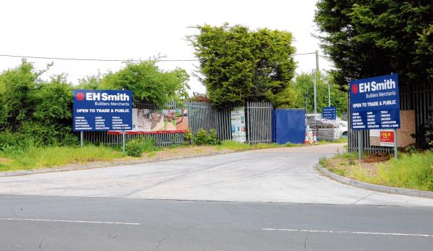 Thieves jump fence in raid on builders' firm
