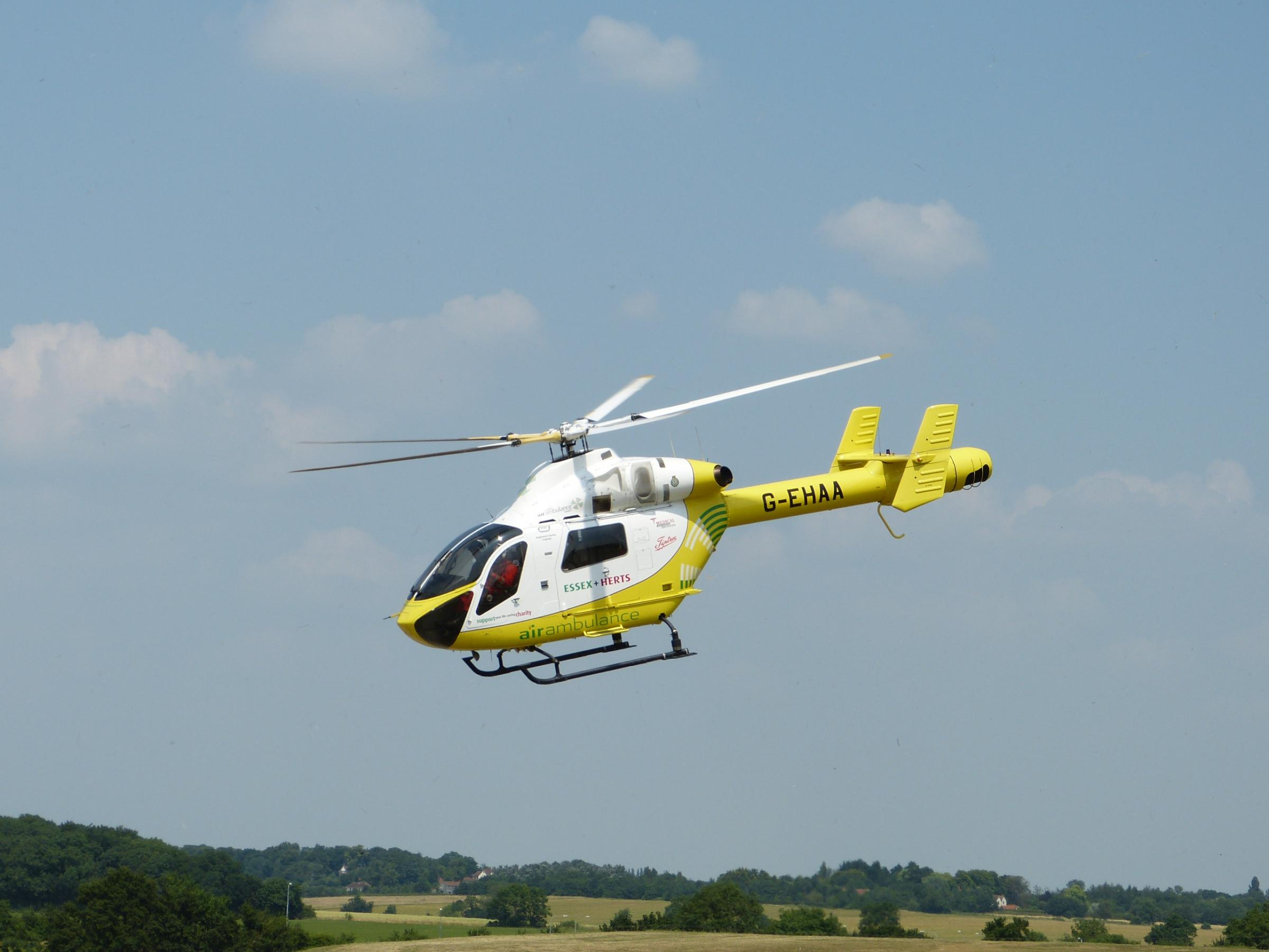 Collapsed man flown to hospital