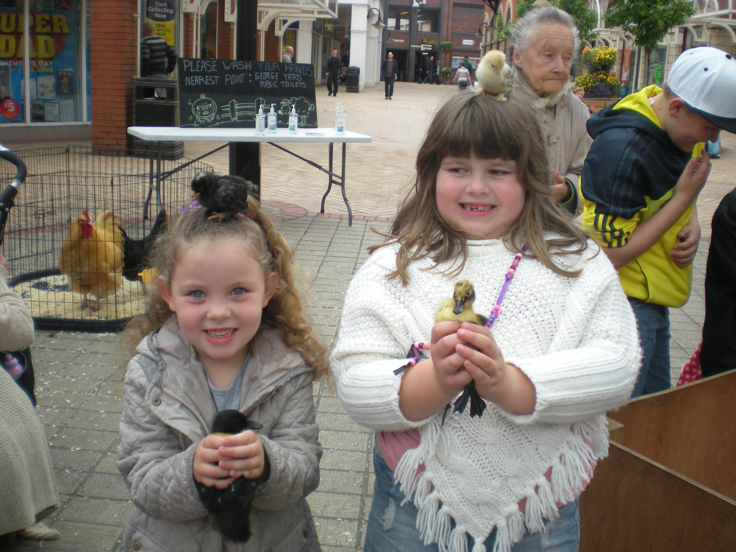 Emma-Leigh Batten and Annie Lack at Gemma's Farm