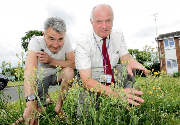 Braintree and Witham Times: John Farrell (left) and Cllr Bill Rose