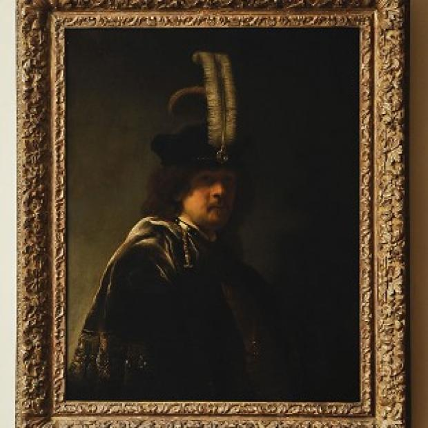 Braintree and Witham Times: A self-portrait of Rembrandt discovered at Buckland Abbey, Devon