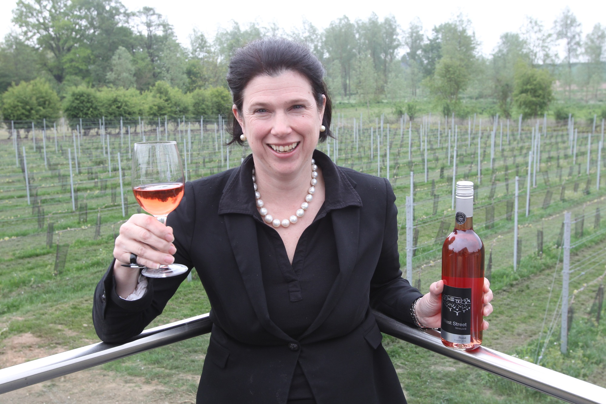 Jane Mohan, who runs the West Street Vineyard in Coggeshall