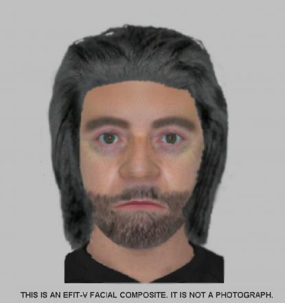 Police efit of the man suspected of accosting the girl