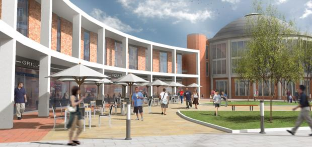 Artists impressions of the proposed development at Braintree bus park